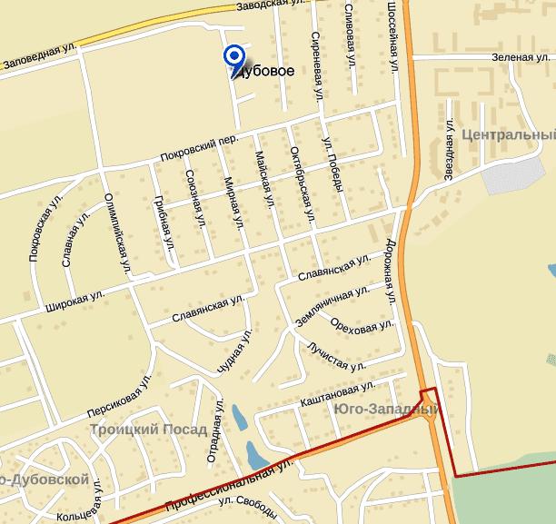 Россия, Белгородская область, Белгородский район, поселок Дубовое — Яндекс.Карты - Google Chrome