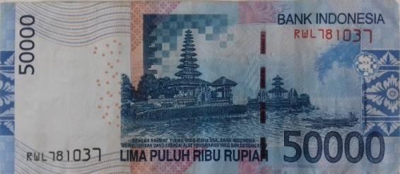 купюра Бали 50000 рупий