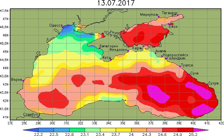 график воды в Анапе