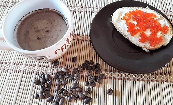 кофе и икра