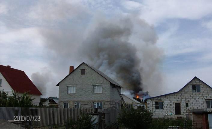 пожары в городе