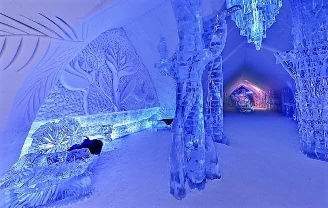 встреча Нового года в ледяном доме