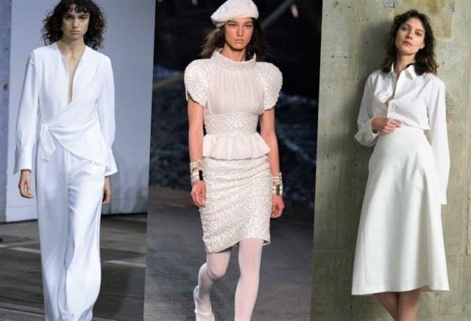 белый в моде