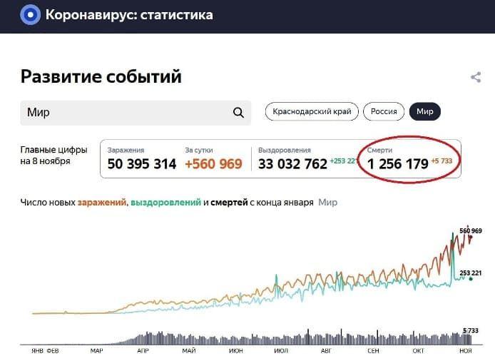 факты о коронавирусе. Общая смертность в РФ